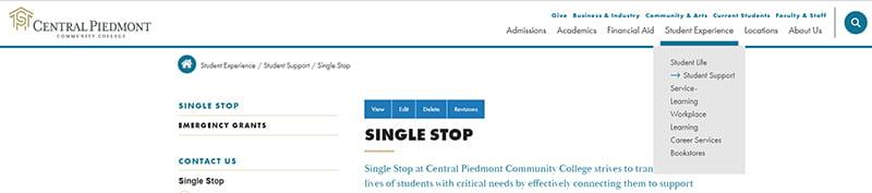 Single Stop Homepage
