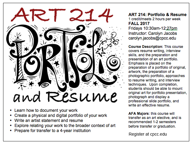 ART 214-Portfolio & Resume