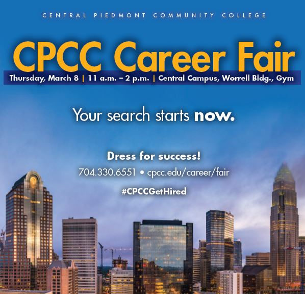 CPCC Career Fair March 8th 2018