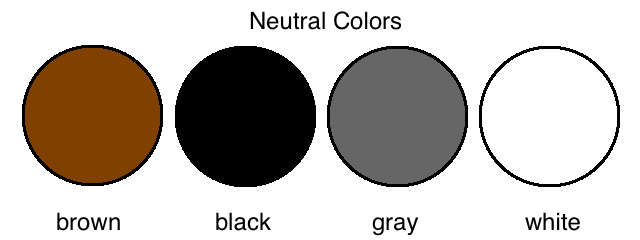 Is Black A Neutral Color neutral colors - lessons - tes teach