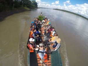 Boat in the Amazon