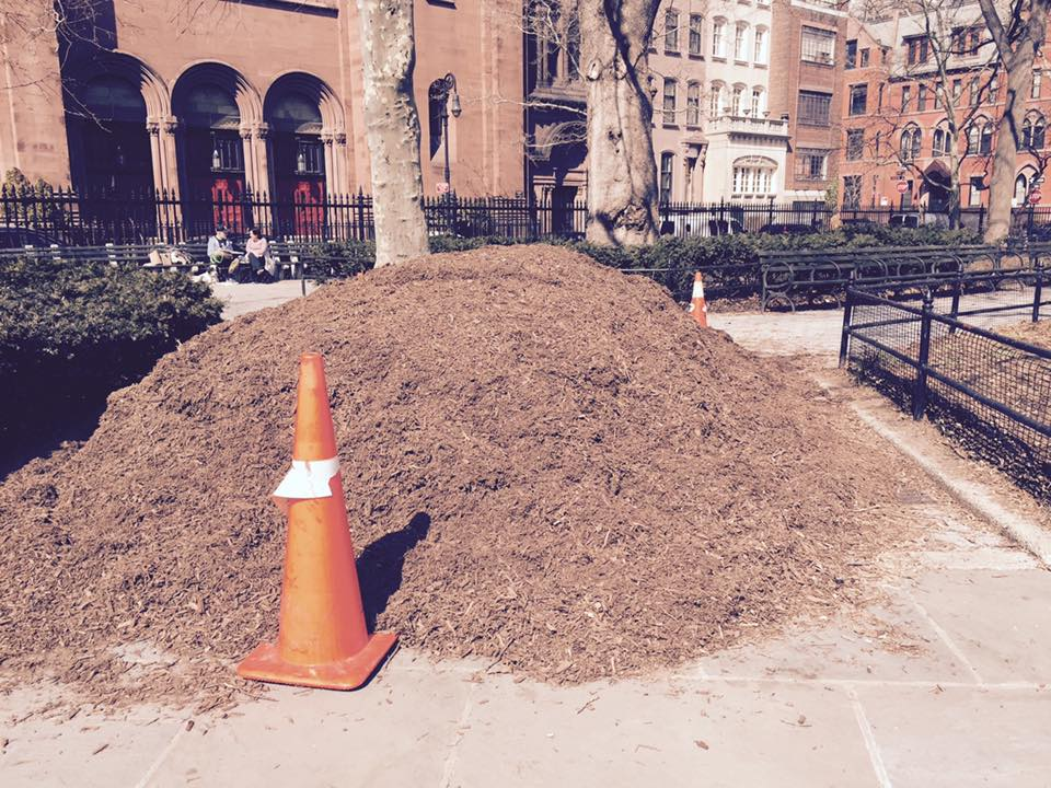 A mulch pile we distributed, from spna facebook