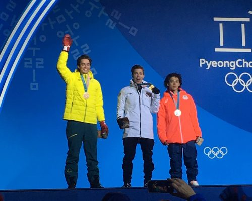 Shaun White and his gold medal