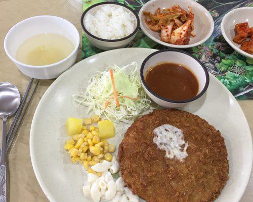 Korean pork chop with cheese