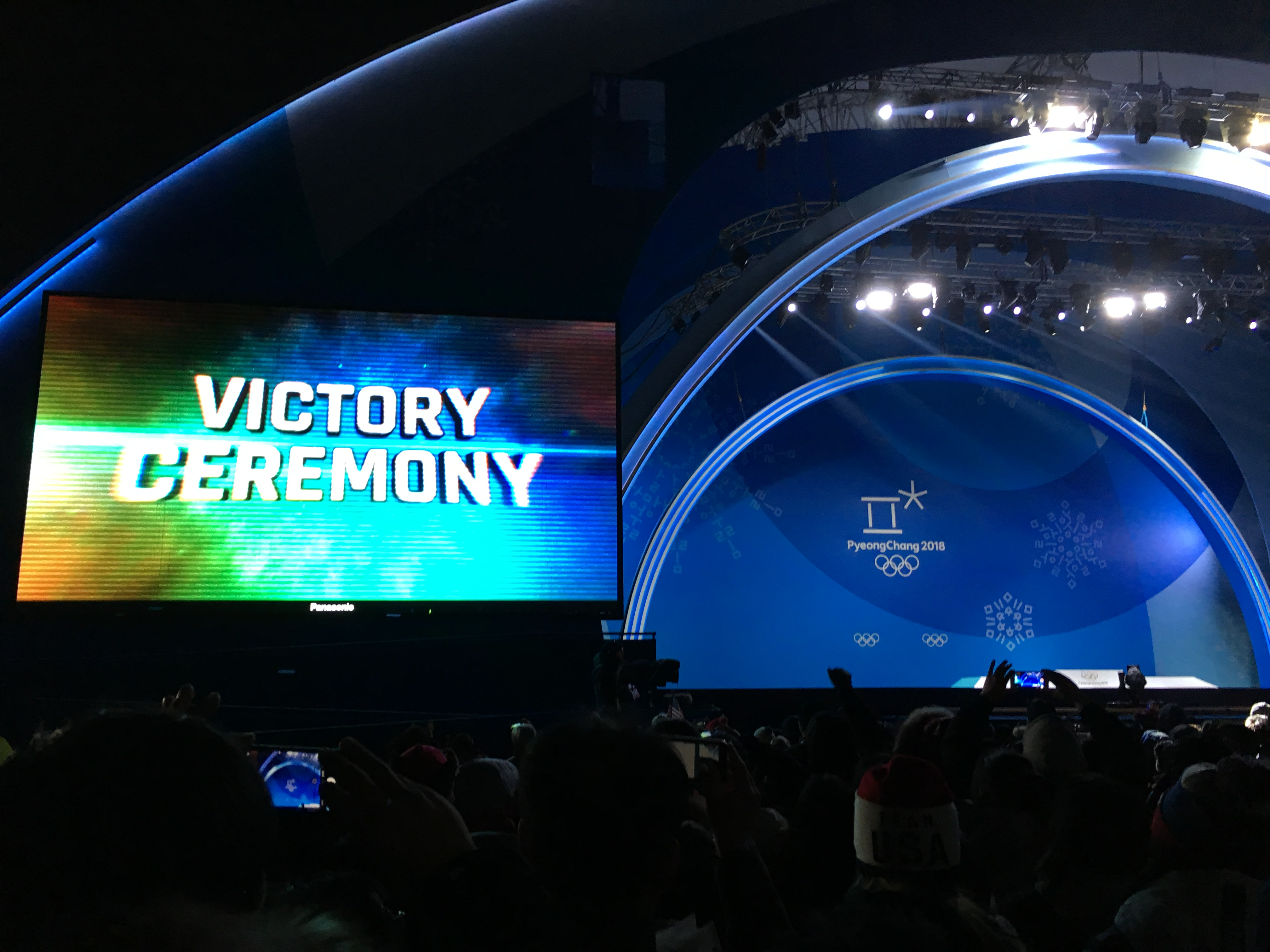 medal cermony stage