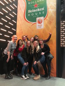 group of people at heineken house