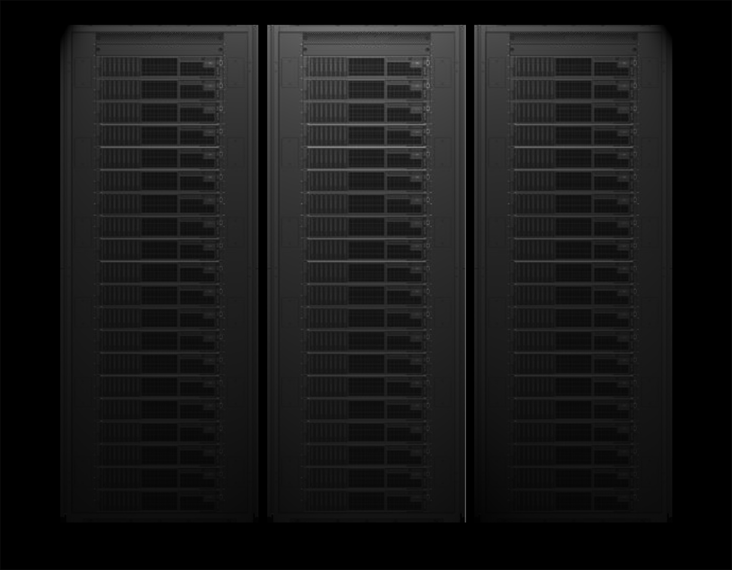 Rendering of two server racks