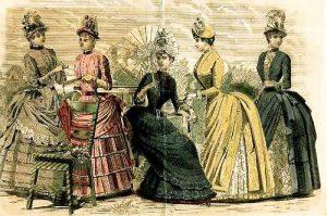 Fashion plate 1880s. Flickr/Sacheverelle