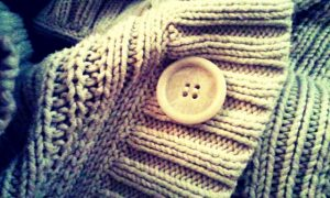 Warm sweater + big buttons