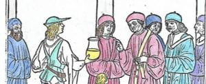 Historical Medical Library: Uriniscopic Consultation (cropped image)