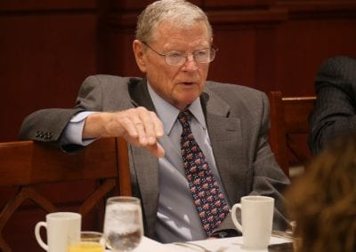 Senator James M. Inhofe (R- Okla.), Chairman – Armed Services Committee