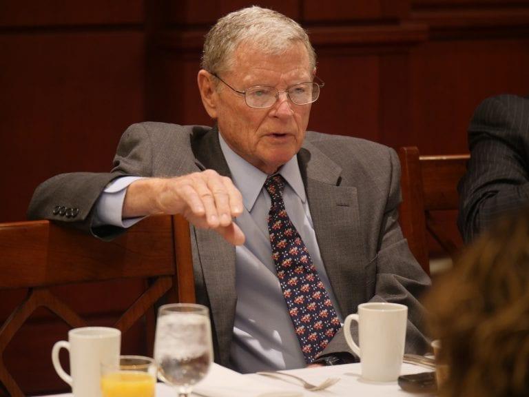 Senator James M. Inhofe (R- Okla.), Chairman – Armed Services Committee