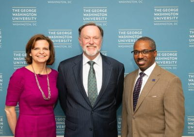 left - Jennifer Cooke, center - Ambassador Tibor Nagy (Assistant Secretary of State for African Affairs), right - Amb. Reuben E. Brigety (Dean, Elliott School of Intl. Affairs)