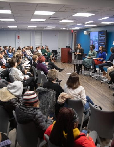 Panel discussion at How Women Saved Rwanda event