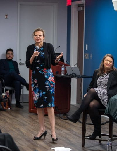 Jennifer Cooke speaking at How Women Saved Rwanda event