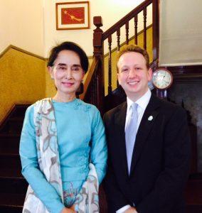 David Solomon and State Councilor Aung San Suu Kyi