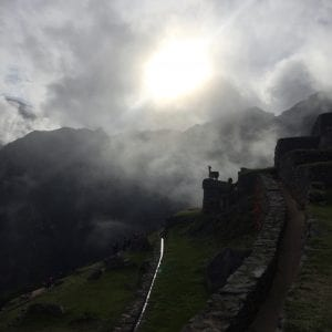 Machu Picchu Sunrise submitted by Lauren Bell, B.A.'19