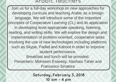 Innovations in Arabic Language Teaching