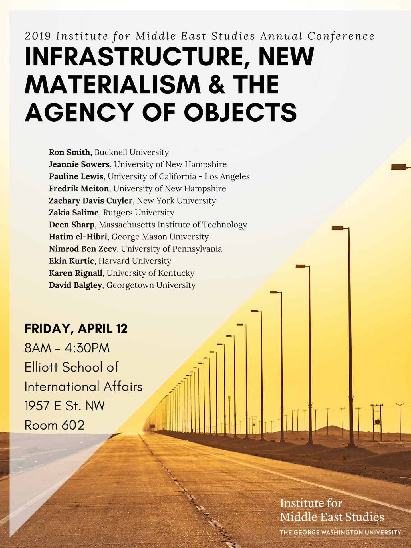 2019 Institute for Middle East Studies Annual Conference