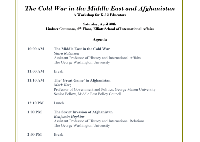 The Cold War in the Middle East and Afghanistan