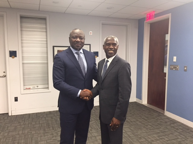 Dr. Zerbo with special guest the Burkina Faso (Dr. Zerbo's native country) Ambassador to the US. November 29, 2016