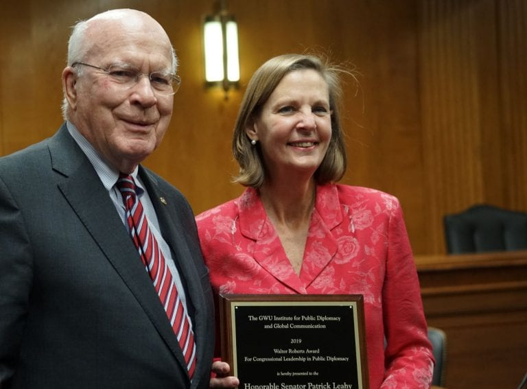 IPDGC honors Sen. Patrick Leahy for commitment to Public Diplomacy
