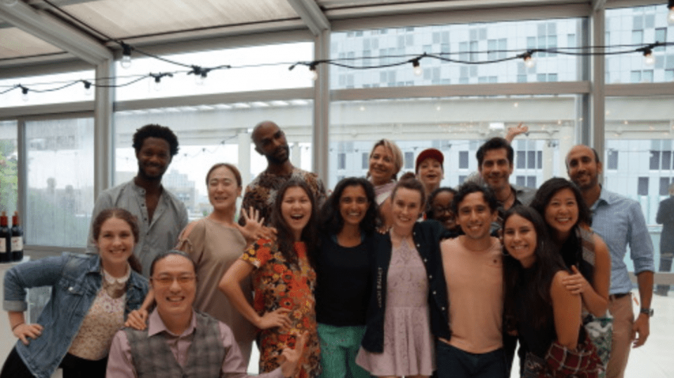 The full cohort of artists for the Dance Motion USA with DMUSA staff and Jay R. Raman, Director, Cultural Programs Division at U.S. Department of State.