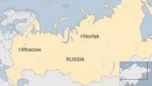 Figure 1: Location of Norilsk Photo Credit: BBC