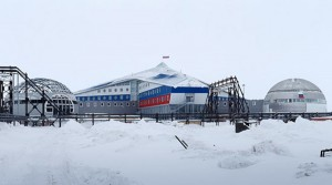 Figure 1: The Arktichesky Trilistnik (Arctic Trefoil) complex of the Nagursky military base, on Franz Joseph Island. The most northern military base in the world. Photo Credit: RT.com