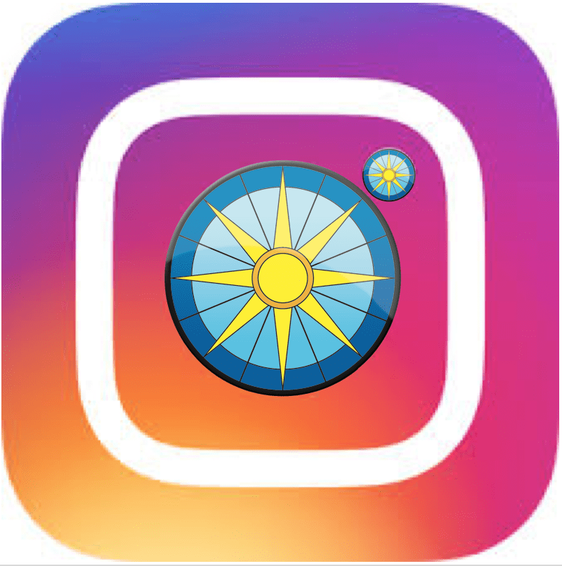 The Instagram logo overlaid with the UHP logo
