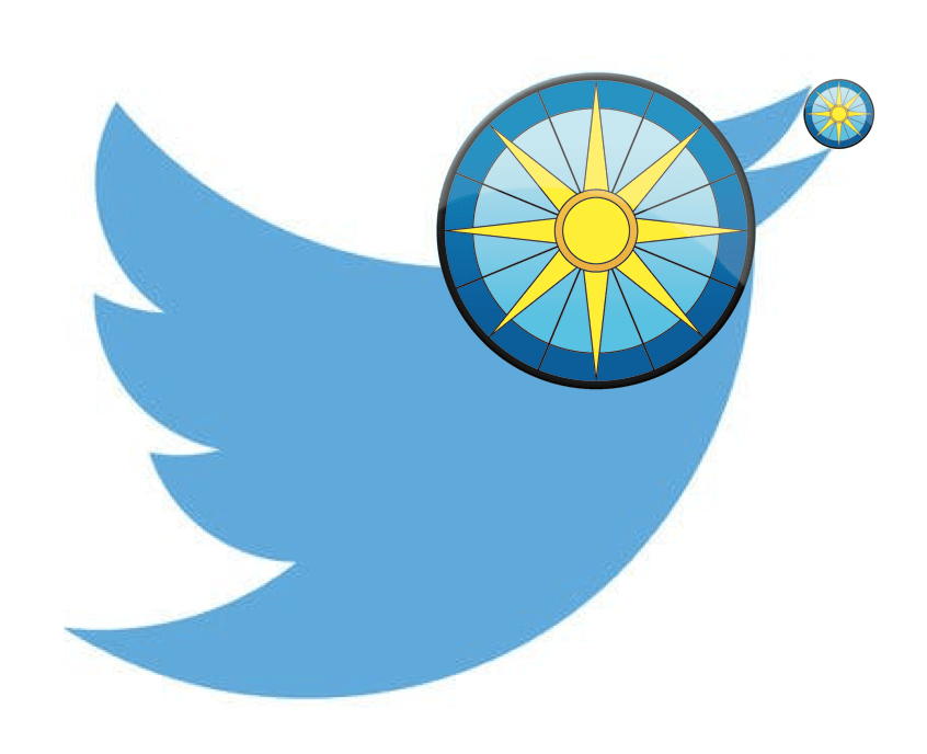 The UHP logo overlaid on the Twitter logo