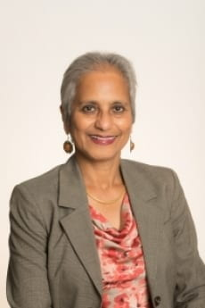 Professor Deepa Ollapally, pictured in professional attire