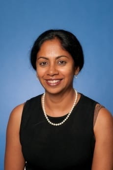 Elizabeth Chacko, pictured in professional attire