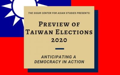 12/11/19: Preview of Taiwan Elections 2020: Anticipating a Democracy in Action