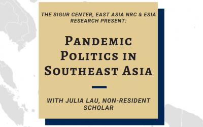 07/09/2020: Pandemic Politics in Southeast Asia