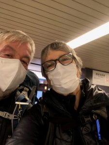 Wearing masks in Japan