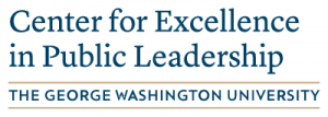 Center for Excellence in Public Leadership logo text