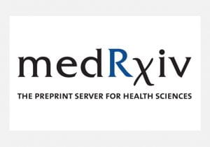 Photo of the medRxiv logo.