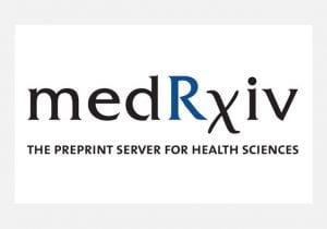 Photo of the medRxiv logo.