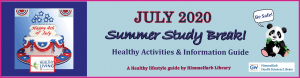 July Study Break Calendar