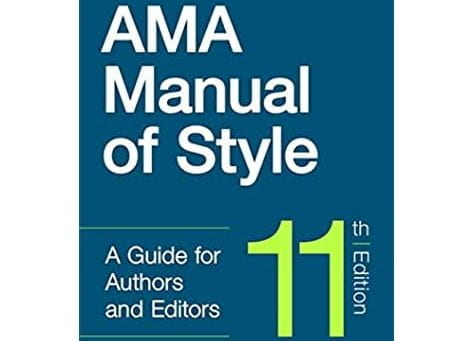 Cover of the 11th edition of the AMA Manual of Style