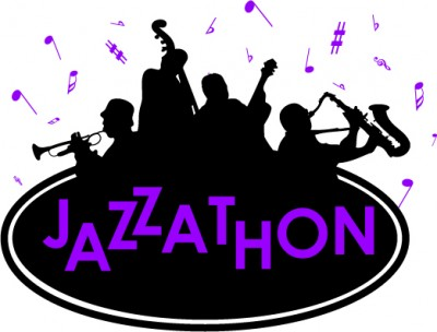 logo with jazz musicians