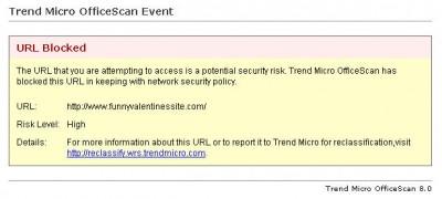 WRS blocked-site notice