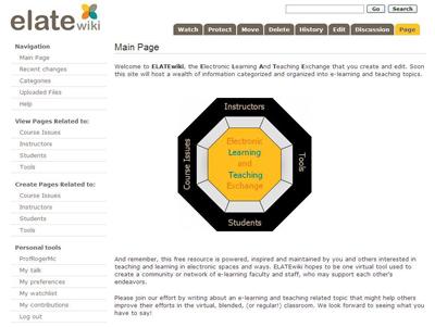 ELATEwiki's homepage