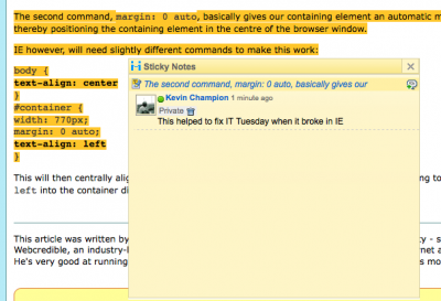 Highlighting and commenting on webpage with Diigo