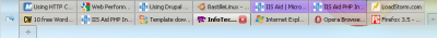 Screenshot of Firefox tabs