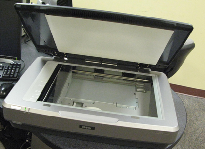 Large flatbed scanner in the Media Development Center