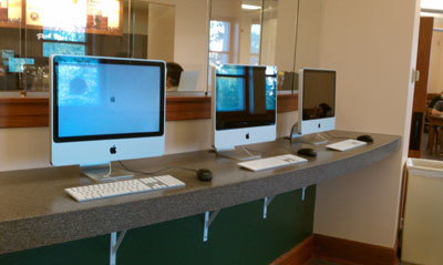 6 new iMacs are now in the 24-hour study area in Hale Library