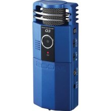 photo of blue Zoom video recorder