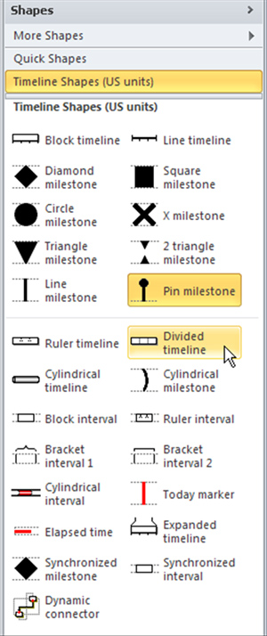 Linking updatable data to a timeline with Microsoft Visio